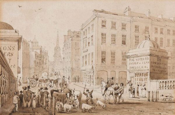 STORER James Sargant (1771-1853) - 'High Street, Bristol'.