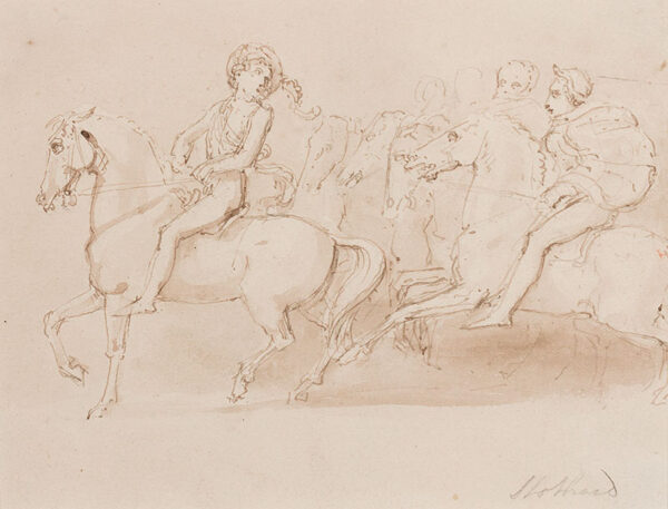 STOTHARD Thomas (1755-1834) - Composition study inspired by the Elgin Marbles.
