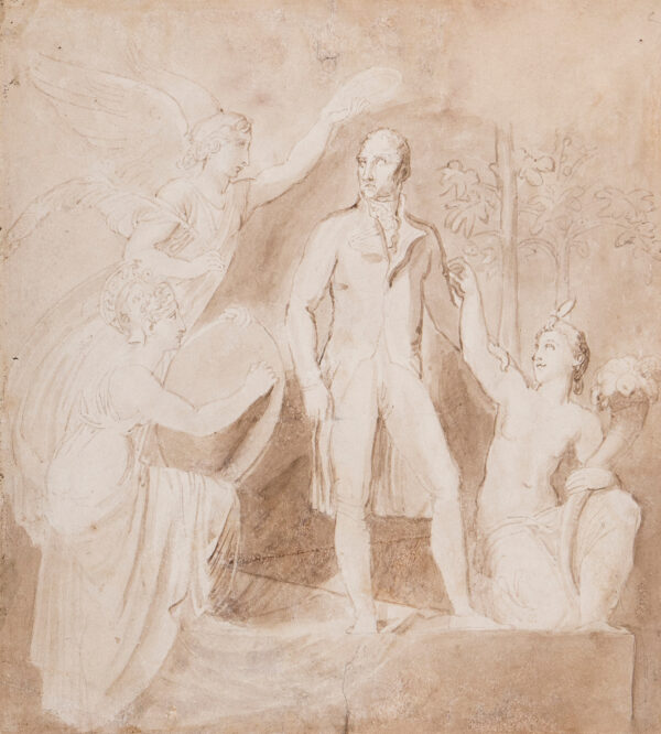 STOTHARD Thomas R.A. (1755-1834) - Statesman attended by the Graces.