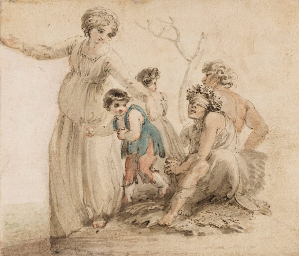 STOTHARD Thomas R.A. (1755-1834) - A woman, children, and blindfolded figure.