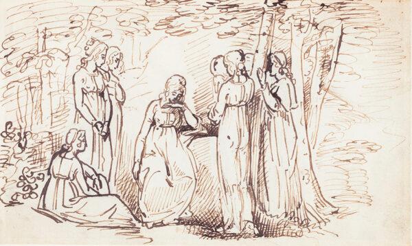 STOTHARD Thomas (1755-1834) Circle of - An English neo-classical composition.