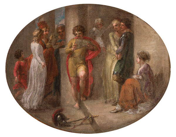 STOTHARD Thomas R.A. (1755-1834) - 'Music' Oil on canvas.