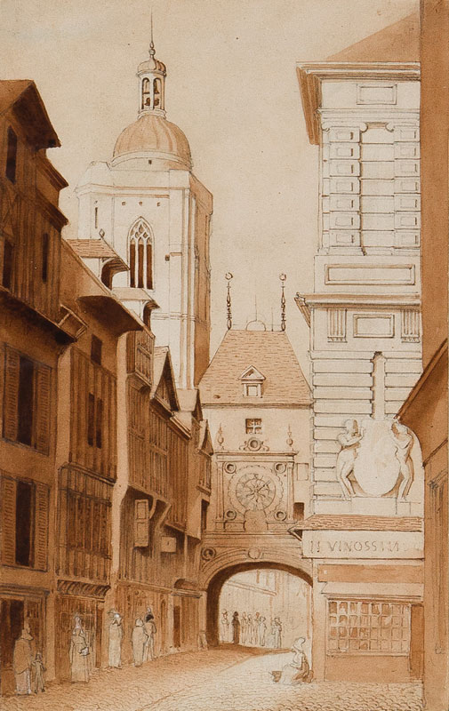 STOTHARD Charles Alfred (1786-1821) - The 'Gros Horloge', Rouen.