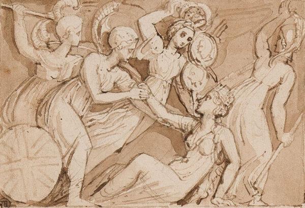 STOTHARD Thomas R.A. (1755-1834) - Brush and sepia wash.