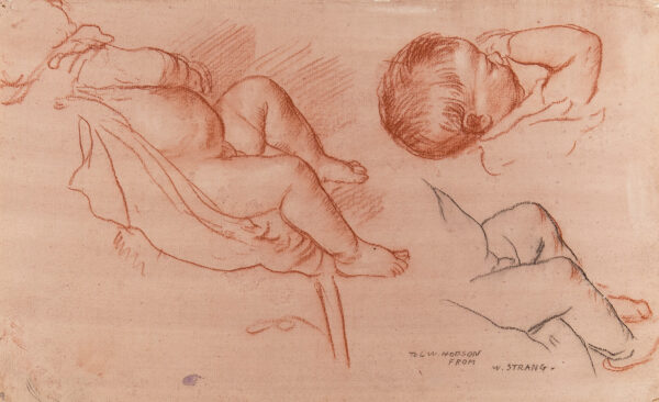STRANG William R.A. R.E. (1859-1921) - Studies of a baby.