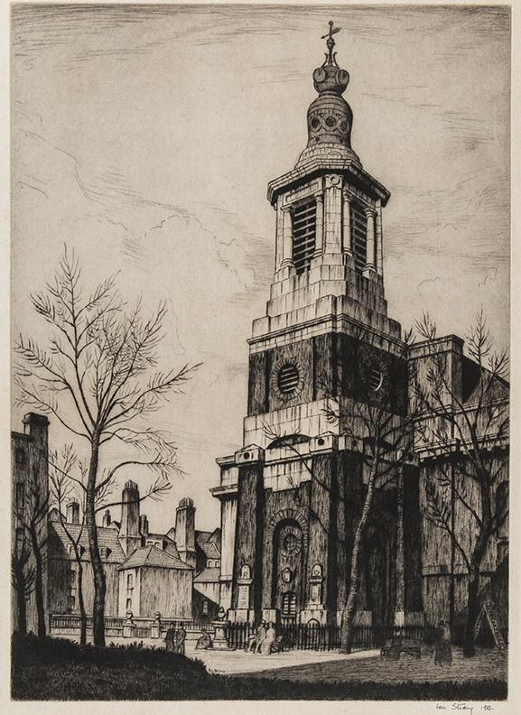 STRANG Ian R.E. (1886-1952) - St Anne's, Soho.