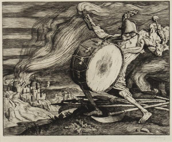 STRANG William R.A. R.E. (1859-1921) - 'War' (LB.
