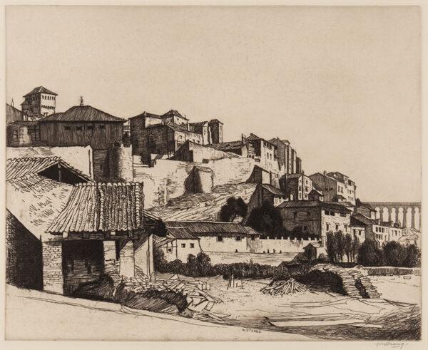 STRANG William R.A. R.E. (1859-1921) - 'Segovia'.