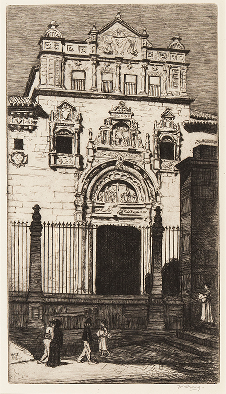 STRANG William R.A. R.E. (1859-1921) - The Doorway of Santa Cruz, Toledo'.