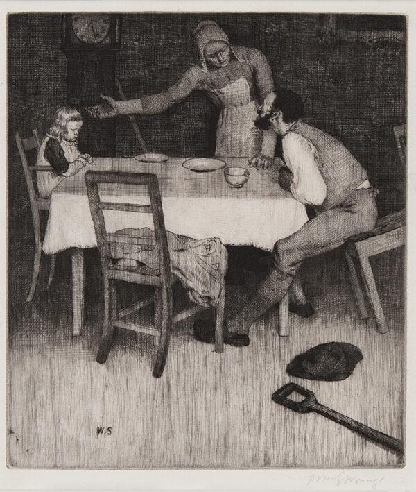 STRANG William R.A. R.E. (1859-1921) - 'That night the ploughman.