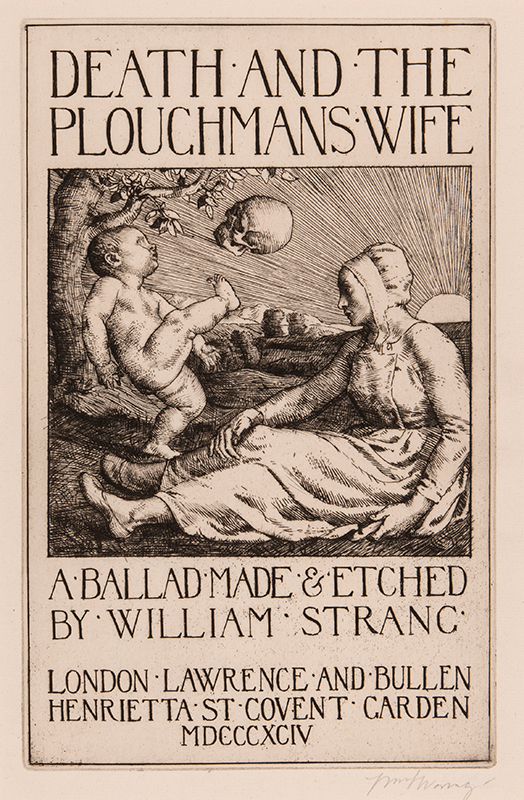 STRANG William R.A. R.E. (1859-1921) - 'Death and the Ploughman's Wife'.