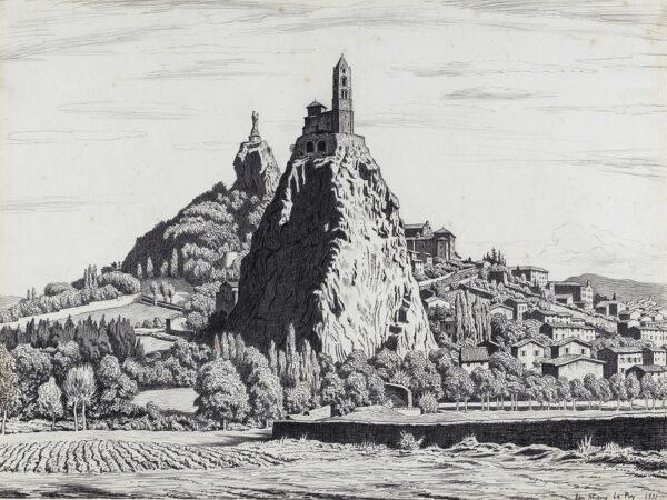 STRANG Ian R.E. (1886-1952) - Saint-Michel de l'Aiguilhe, Le Puy.