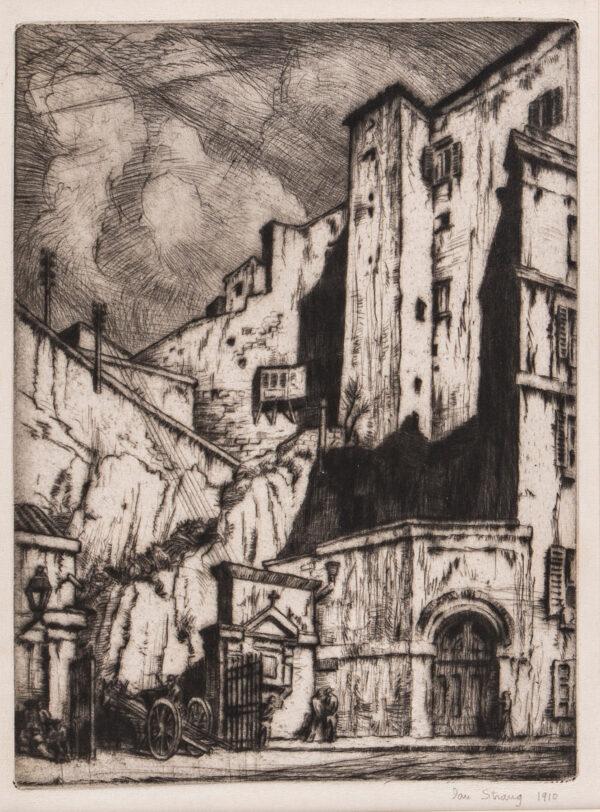 STRANG Ian R.E. (1886-1952) - 'Via della Pace, Naples'.