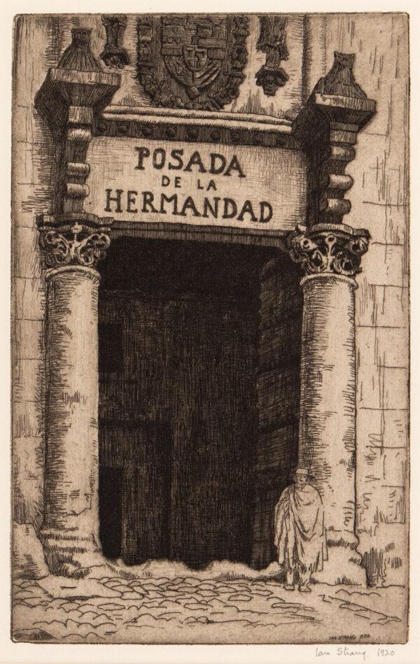 STRANG Ian R.E. (1886-1952) - 'Posada de la Hermadad'.