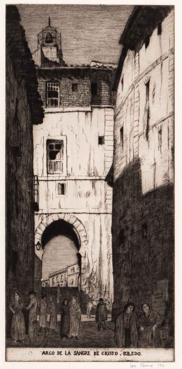 STRANG Ian R.E. (1886-1952) - 'Arco de la Sangre de Cristo, Toledo'.