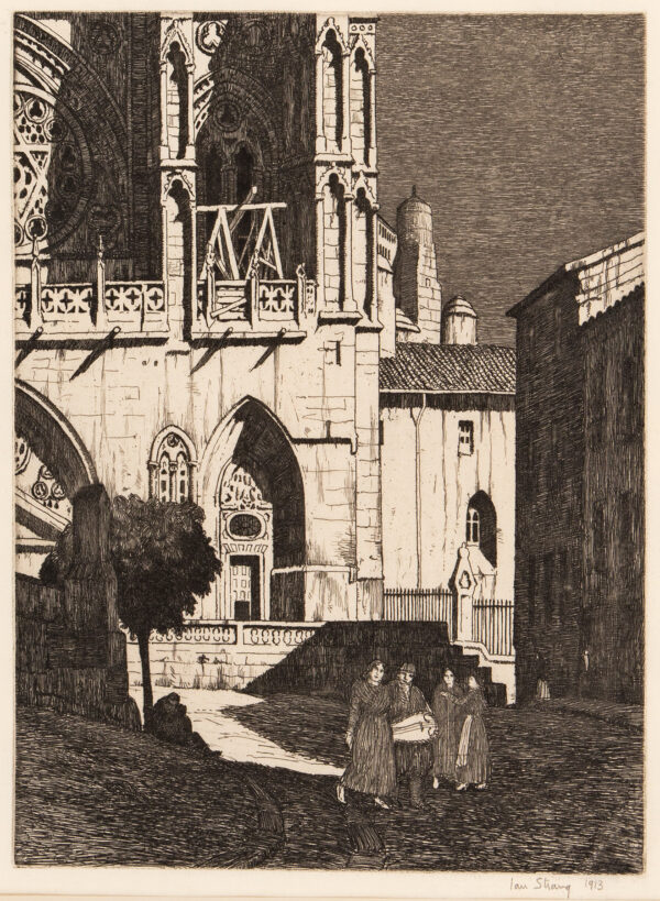 STRANG Ian R.E. (1886-1952) - Spanish Church.