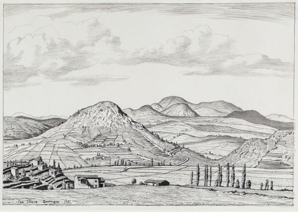 STRANG Ian R.E. (1886-1952) - 'The Cevennes, or Auvergne landscape'.