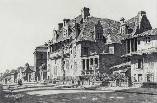 STRANG Ian R.E. (1886-1952) - Maison des Consuls, Perigueux.