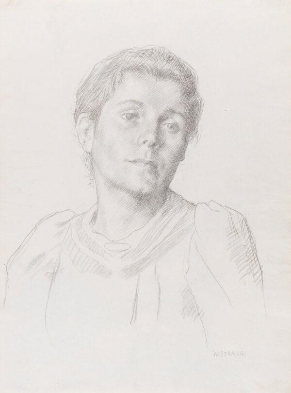 STRANG William R.A. R.E. (1859-1921) - Agnes Strang, the artist's wife.