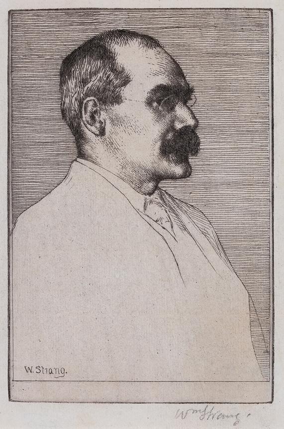STRANG William R.A. R.E. (1859-1921) - 'Rudyard Kipling'.