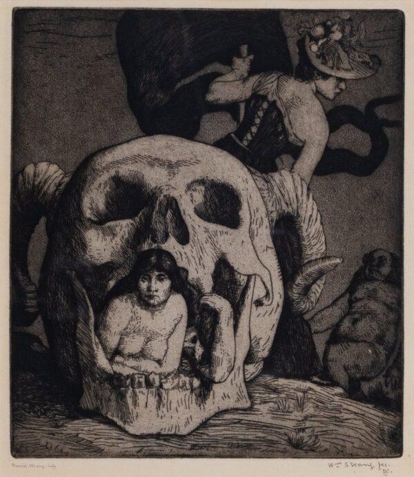 STRANG William R.A R.E (1859-1921) - 'Grotesque': the artist's dream' (WS.