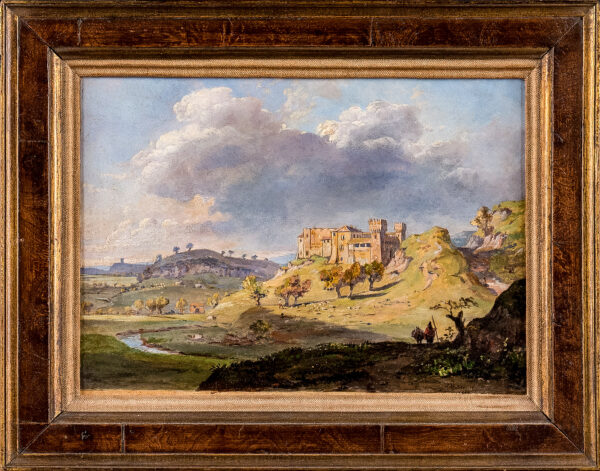 STRUTT Jacob George (1790-1864) - 'Poussin's Castle in the Campagna'.