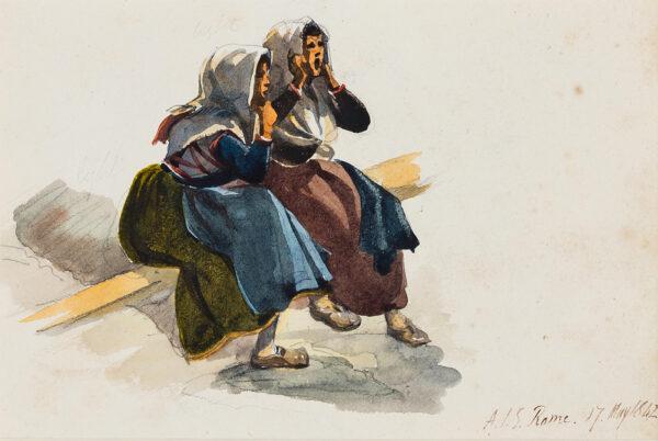 STRUTT Arthur John (1819-1888) - Ragazze Romane.