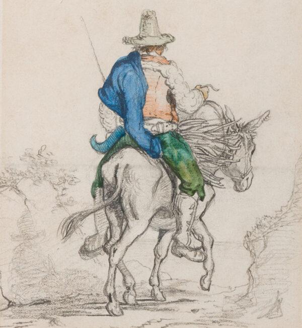 STRUTT Arthur John (1819-1888) - Italian Contadino on his mule.