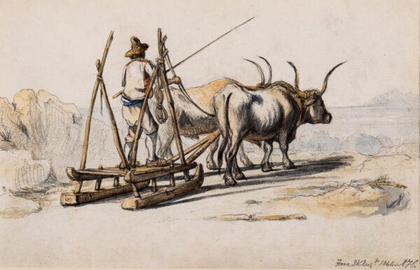STRUTT Arthur John (1819-1888) - 'Fara' (Probably Fara in Sabina, near Rieti, Lazio) Pencil and watercolour.