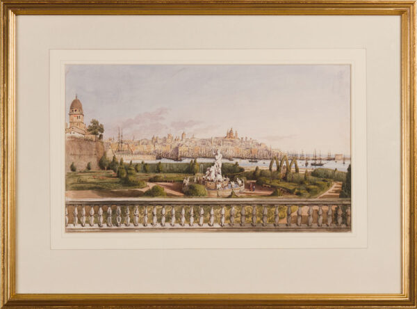 CRICHTON-STUART Lady James (Née Hannah Tighe) (1800-1872) - 'Villa Doria Garden, Genoa'.