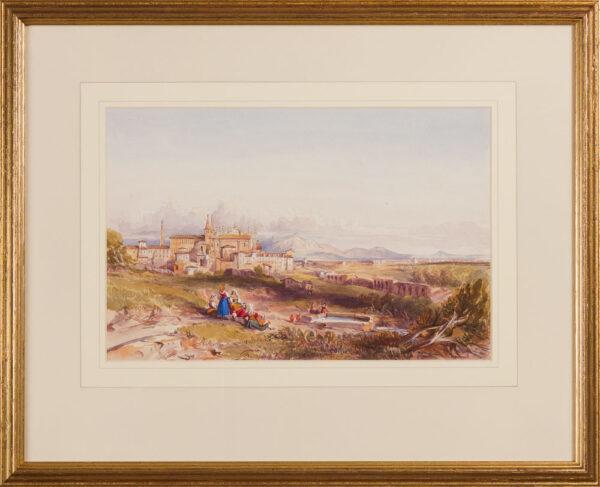 CRICHTON-STUART Lady James (Née Hannah Tighe) (1800-1872) - 'San Giovanni in Laterano from the Villa Mattei'.