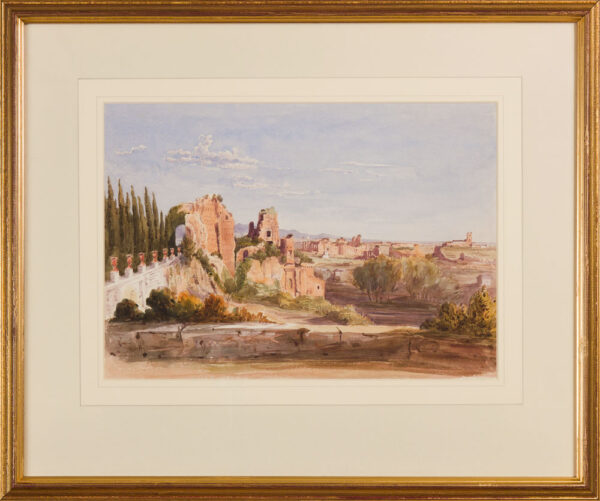 CRICHTON-STUART Lady James (Née Hannah Tighe) (1800-1872) - 'From Mr Mill's Villa in the ruins of the Palace of the Caesars & Termi di Caracalla.