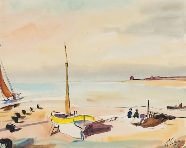 SUDDABY Rowland (1912-1970) - Beached fishing boats.