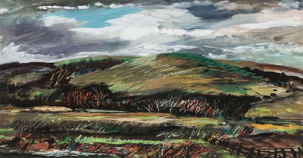SUDDABY Rowland (1912-1972) - Yorkshire landscape.