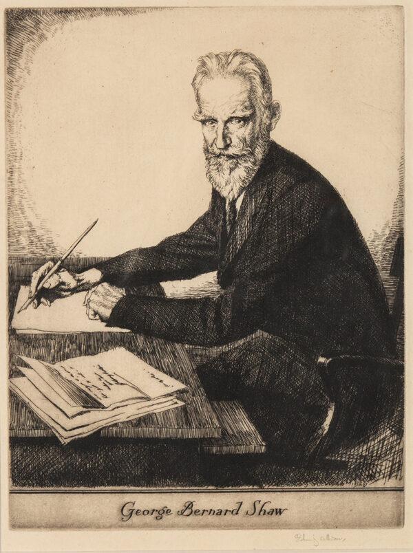 SULLIVAN Edmund R.W.S. R.E. (1869-1933) - 'George Bernard Shaw'.