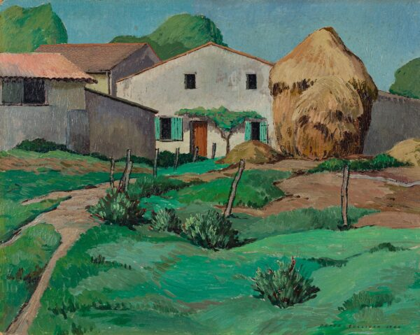 SULLIVAN Peter (fl.1940s) - 'Farmhouse, Charente Inferieure'.