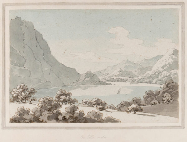 SUNDERLAND Thomas (1744-1823) - 'On Uls-water' (sic): the upper end of Ullswater with Place Fell.
