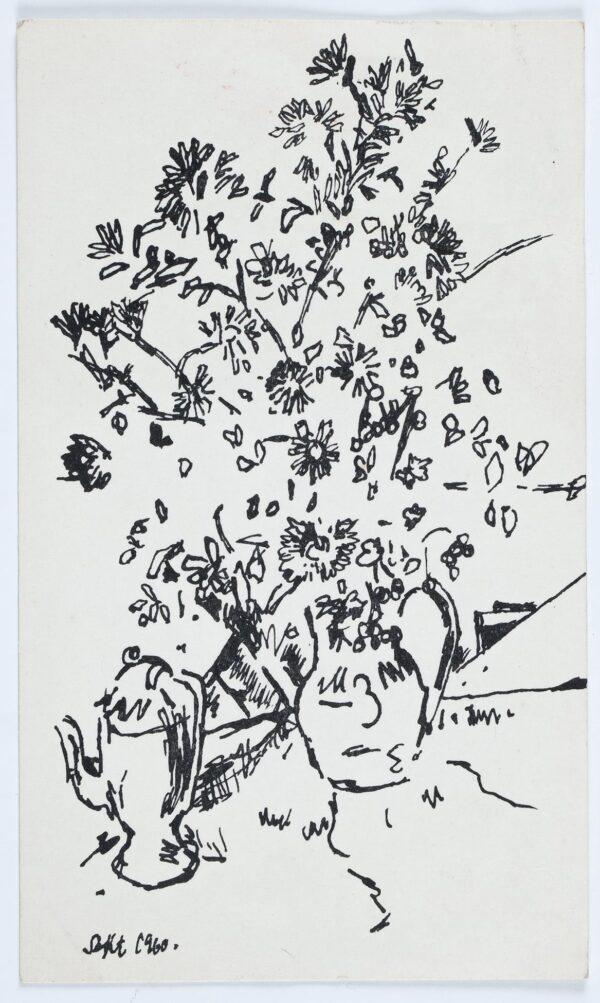 SUTTON Philip R.A. (b.1928) - Flowers in a jug.