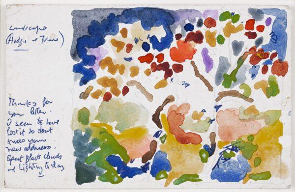 SUTTON Philip R.A. (b.1928) - 'Landscape (Hedge & Tree)'.