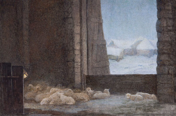 SWAN Alice Macallan R.W.S (1864-1939) - The Winter fold.