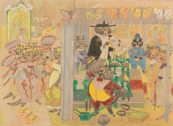 SWANWICK Betty R.A. R.W.S. (1915-1989) - 'Rodney Village Flower Show'.