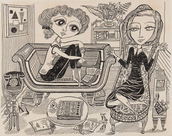 SWANWICK Betty R.A. (1915-1989) - 'Tea Time'.