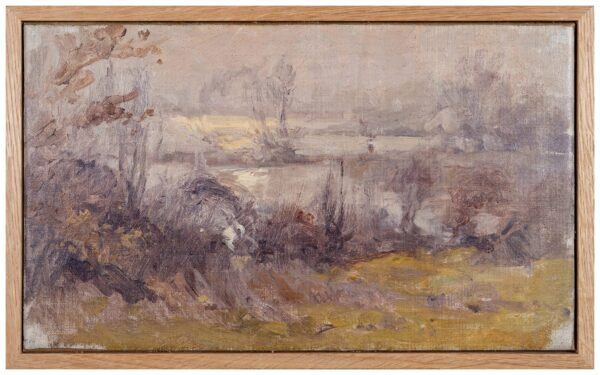 SWANWICK Harold (1866-1929) - Water meadows at dawn.