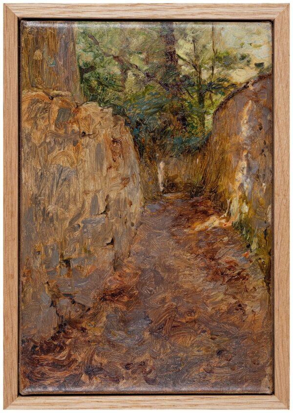 SWANWICK Harold (1866-1929) - A deep lane.