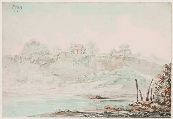 SWETE Rev. John (1752-1821) - House on West Country Cove.