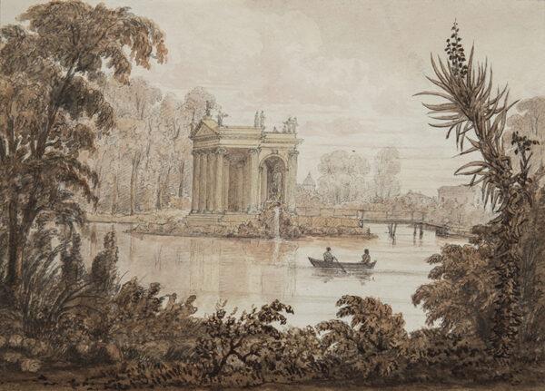 SWINBURNE Edward (1765- 1847) - Rome: the gardens of the Villa Borghese.