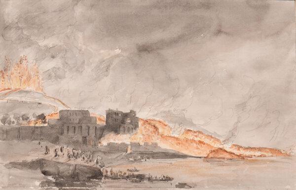 SWINBURNE Edward (1765-1847) - Eruption of Vesuvius, 1794.