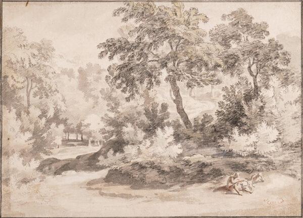 TAVERNER William (1700-1772) - Figures in a landscape.