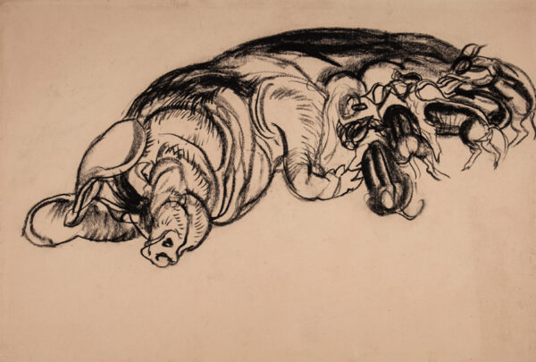 TEMPLE Vere Lucy (1898-1981) - 'Sow and piglets'.
