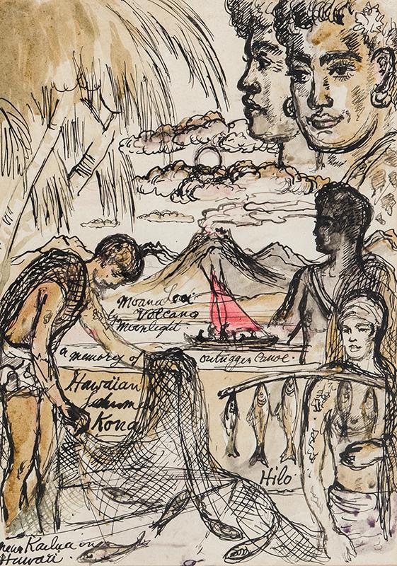 TENNANT Stephen (1906-1987) - A Memory of Hawaii.